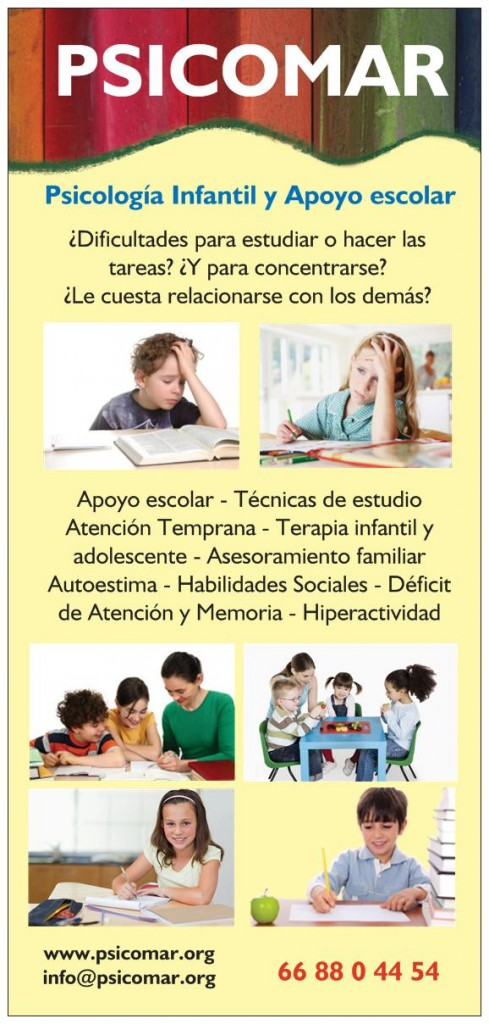 Folleto Psicología Infantil 1. Pincha para ampliar