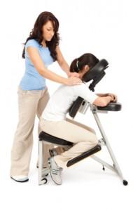 masaje en Roquetas en silla ergonomica